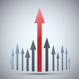 Vector progress. Business . Red arrow Stock Image