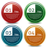 Vector Progress Icon for Four Steps. Eps 10 Royalty Free Stock Photo