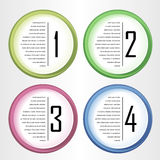 Vector progress icons for four steps Stock Image