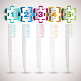 Vector progress icons one two three four five Royalty Free Stock Image