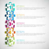 Vector progress icons one two three four five Royalty Free Stock Photos