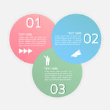 Vector progress icons for three steps or options Stock Photo