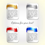 Vector progress options / four options with coloured arrow Stock Photography