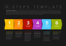 Vector progress six steps template Stock Image