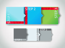 Vector progress steps / arrow stickers set Royalty Free Stock Image