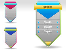 Vector Progress steps and options for tutorials. I have created Abstract template for design concept stock illustration