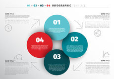 Vector progress steps template. One two three four - vector progress template for four steps with icons and description Stock Photo