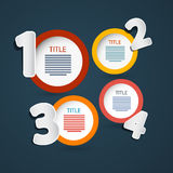 Vector Progress Steps for Tutorial, Infographics Royalty Free Stock Images