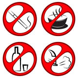 Vector prohibiting signs Royalty Free Stock Photos