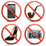 Vector Prohibitory Sign Icons Stock Photos