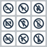 Vector prohibitory signs icons set Stock Photo
