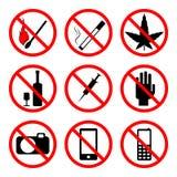 Vector proibire i segni immagini stock libere da diritti
