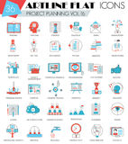 Vector Project Business Planning Ultra Modern Outline Artline Flat Line Icons For Web And Apps. Stock Images
