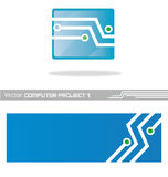 Vector project computer1. Vector project blue computer 1 Stock Image