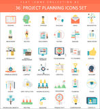 Vector Project planning color flat icon set. Elegant style design. Vector Project planning color flat icon set. Elegant style design Stock Photo
