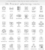 Vector Project planning strategy ultra modern outline line icons for web and apps. Royalty Free Stock Images