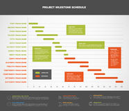 Vector project timeline graph Royalty Free Stock Image