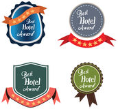 Vector promo label for best hotel of year award. Royalty Free Stock Photo