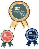 Vector promo label of best mortgage broker agent service award of the year Royalty Free Stock Photography