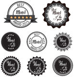 Vector promo label of best motel service award of the year. Royalty Free Stock Photos