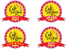 Vector promo label for best of year award for cafe or coffee shop Stock Photography