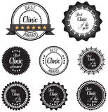 Vector promo label of best of year award for health care clinic. Stock Images