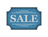 Vector promo rough denim fabric banner Royalty Free Stock Photo