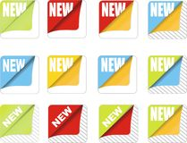 Vector Promotion Sticker Royalty Free Stock Images