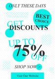 Vector promotional Get Discounts off banner Royalty Free Stock Photo