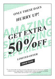 Vector promotional Get Extra 50 percent off banner Royalty Free Stock Photos