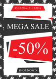 Vector promotional Mega Sale banner for online stores vector illustration