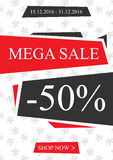 Vector promotional Mega Sale banner vector illustration