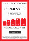 Vector promotional Super Sale banner royalty free illustration