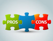 Vector pros and cons  model illustration Royalty Free Stock Photography