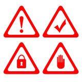 Vector protection icons Stock Images