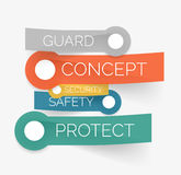 Vector protection tag cloud of stickers Royalty Free Stock Image