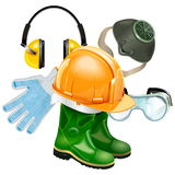 Vector Protective Equipment Concept Stock Photos
