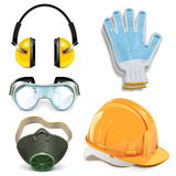 Vector Protective Equipment Stock Photography