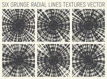 Vector psicodélico radial de 6 texturas del Grunge Fotos de archivo libres de regalías