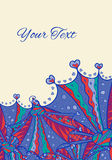 Vector psychedelic hearts invitation card Royalty Free Stock Photos