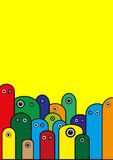 Vector psychedelische affiche Royalty-vrije Stock Foto