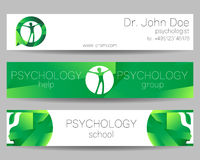 Vector Psychology Web banner design background or header Templates. Symbol and icon. Profile Human. Creative style Stock Image