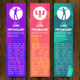 Vector Psychology Web vertical banner design background or header Templates. Psi sign. Symbol and icon, icon.  Royalty Free Stock Photo