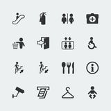 Vector public signs icons set. Vector isolated public signs icons set Royalty Free Stock Photos