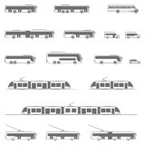 Vector public transport icons Royalty Free Stock Photos