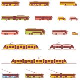 Vector public transport icons Royalty Free Stock Photography