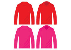 Vector pullover templates Stock Photos
