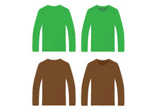 Vector pullover templates Royalty Free Stock Photography