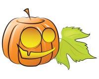 Vector pumpkin decorating for Halloween Stock Photo