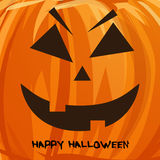 Vector pumpkin portrait  for Halloween Royalty Free Stock Photography